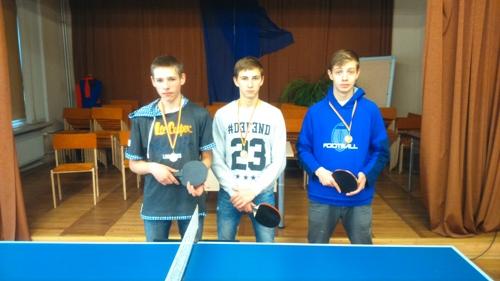 Spalio 8 dieną mokykloje įvyko moksleivių stalo teniso turnyras