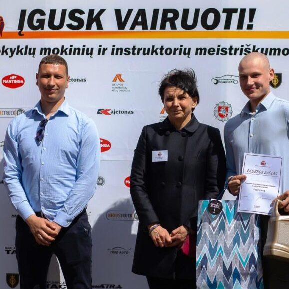 """Mūsų mokykla – konkurso """"ĮGUSK VAIRUOTI"""" nugalėtoja!"""