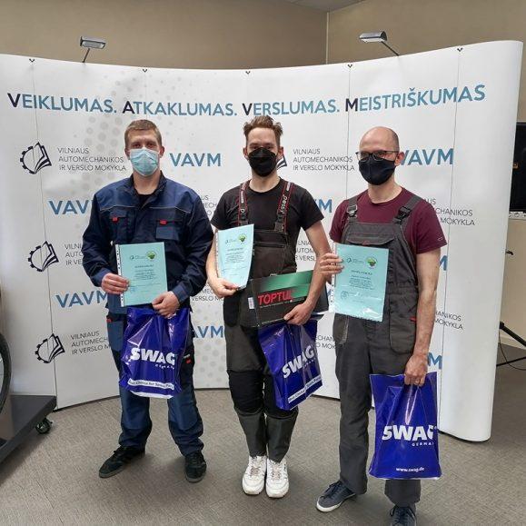 """PROFESINIO MEISTRIŠKUMO KONKURSAS """"JAUNASIS AUTOMECHANIKAS 2021"""